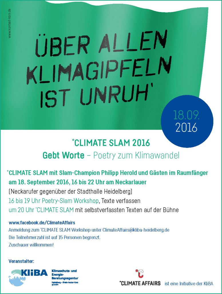 KliBA_CLIMATE-SLAM-2016_Anzeige